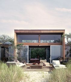 Beach house: 266 Bay Walk, Fire Island, NY by Horace Gifford 1968 Fire Island, My Dream Home, Exterior Design, Future House, Interior Architecture, Sustainable Architecture, Residential Architecture, Garden Architecture, Building Architecture