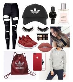 Untitled #31 by adekoooo on Polyvore featuring polyvore fashion style Converse WithChic NIKE adidas Originals ROSEFIELD Topshop Lime Crime Down to Earth philosophy clothing