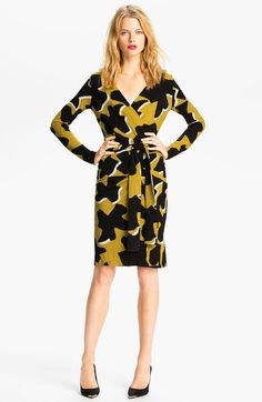 This is me all day every day. DVF Richley Dove Bloom Wrap Dress