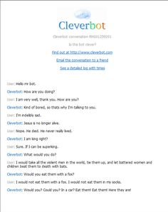 Cleverbot!