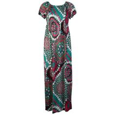 Colorful Elasticated Short Sleeve Long Maxi Dress