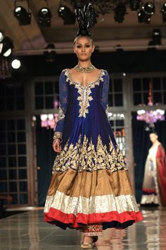 Anarkali designed by Manish Malhotra. Check out the new collection only on: http://www.vogue.in/content/delhi-couture-week-who-what-wear#39
