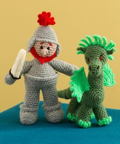 St. George and the Dragon Free Crochet Pattern from Red Heart Yarns (UK crochet terms)