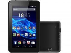 "Tablet Multilaser MS7 8GB Tela 7"" Wi-Fi - Android 4.4 Proc. Quad Core Câmera 2 MP + Frontal"