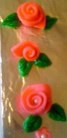 Gum paste ribbion roses!