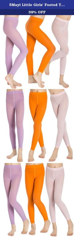 5Mayi Little Girls' Footed Tights 3-Pair-Pack Size XXL(7-10) Pink Purple Orange. This is a very good design tights! These are durable and neat on the legs and come in a variety of fashion colors. This super value 3-pair-pack is 1 pair Pink,1 pair Purple,1 pair Orange, ONE SIZE . General sizing guide is as follow: Size S(2T-3T): Tights Length around 18-19 inches,Waist around 7 inches. Size M(4T-4): Tights Length around 20-21 inches,Waist around 7 inches. Size L(5-6): Tights Length around...