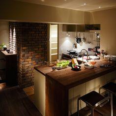 New York style vintage kitchen.