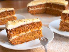 Vanilla Cake, Banana Bread, Carrots, Cheesecake, Deserts, Food And Drink, Cooking Recipes, Sweets, Baking