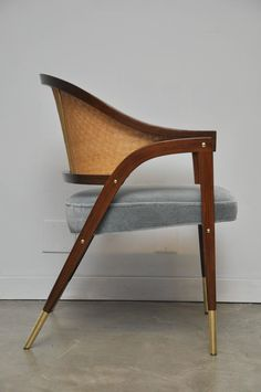 Pair of Armchairs by Edward Wormley for Dunbar image 2