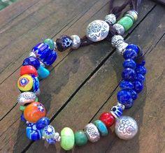 Lapis Lazuli Bracelet Lapis Lazuli Jewelry Leather and Bead