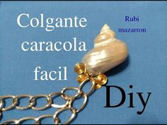 COLGANTE CON CARACOLA DE PLAYA /  wire wrapped sea shell pendant necklace - YouTube