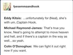Hook would win that fight #CaptainSwan A man who is unwilling to fight for what he wants deserves what he gets.