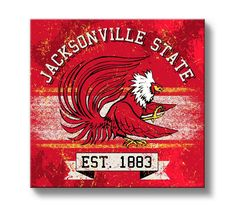 Jacksonville State Gamecocks Classic Canvas Wall Art Square