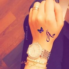 Life is beautiful just u have to observe to it. Tattoo Alphabet, Alphabet Tattoo Designs, Letter A Tattoo, 1 Tattoo, Wrist Tattoos, Body Art Tattoos, Henna Tattoo Designs Simple, Mehndi Art Designs, Trendy Tattoos