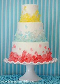 Rock Candy Cake! Via KarasPartyIdeas.com