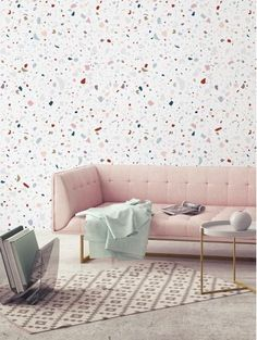 83ef64516254cb  papierpeint  original  wallpaper  decor  livingroom  design  granite   french