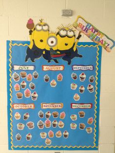 Minion birthday wall minions birthday classroom toddlers