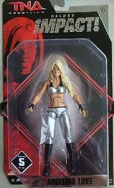 TNA Wrestling Deluxe Impact Series 5 Action Figure Angelina Love by Jakks. $16.90. HARD TO FIND. Total Nonstop Action (TNA) Wrestling is the newest professional wrestling league, and their flagship show, TNA Impact!, airs on Fox SportsNet. Fans of this highoctane, highimpact franchise can now collect their favorite wrestlers with the TNA! Impact Deluxe Action Figures. These figures have detailed sculpts and dynamic poses, and theyre just itching for a fight! Blister...