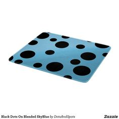 Black Dots On Blended SkyBlue Cutting Board