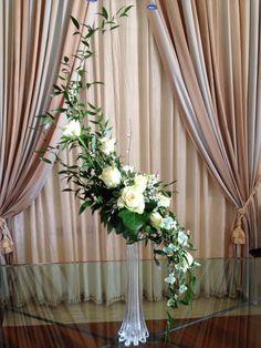~ The Hogarth Line Vintage Flower Arrangements, Creative Flower Arrangements, Church Flower Arrangements, Beautiful Flower Arrangements, Floral Centerpieces, Beautiful Flowers, Hanging Wedding Decorations, New Years Decorations, Flower Decorations