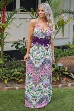 Look My Way Maxi Dress - Purple