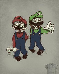 Zombie mario and luigi!