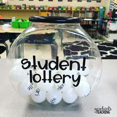 Student Lottery: Fun way for students to WIN random selection! As soon as I saw this brilliant idea from @fantasticallyfourth I knew I had to add it to our classroom! Student Lottery can be used for mystery student selection, tasks or jobs, partner selection, desk checks, extra incentives, the possibilities are endless! I placed it on my desk this morning and my students waited with anticipation! The sound of the ping pong balls moving around adds instant excitement to student picking! All…
