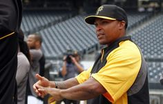 August 28, 2013 — Marlon Byrd #2 is one of two new Pittsburgh Pirates joining the team - along with catcher John Buck acquired in a deadline trade with the New York Mets. Byrd is expected to see significant playing time in right field.