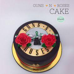 Torta Guns N´ Roses en Medellín por Dulcepastel.com - Guns N´ Roses Cake in Medellín by Dulcepastel.com