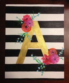 canvas letter art.