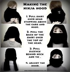 How to make a no-sew ninja costume -tutorial