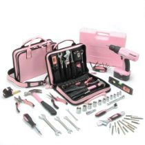 The Little Pink Mini-Pro Tool Kit includes 26 general purpose tools needed by homeowners, apartment dwellers, college students, and anyone needing a basic set of tools organized in a compact zipper case Pink Tool Box, Pink Car Accessories, Fairytale Cottage, Must Have Tools, Girl Bedroom Designs, Outdoor Tools, Home Tools, Tool Organization, Tool Kit