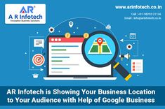 AR Infotech is Showing Your Business Location to Your Audience with Help of Google My Business Will You Try It? Then Contact Us Today  ✔️Guaranteed Results ✔️ Experienced Team ✔️ Free Consultation ✔️ Deep Analysis  😌Hire Us Today👍 📞Call On: +91-9829321136 Social Media Marketing Companies, Best Seo Company, Jaipur, Online Business, Digital Marketing, Innovation, Web Design, Deep, Google