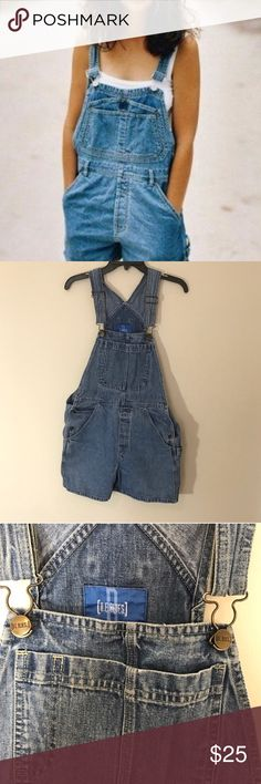 Vintage Overalls Size large but fit more like a medium. I'd say they'd fit a size 4-8. 4 on the baggier side. And they'd fit an 8 on the more snug side. The first pic is just to show the style. Second and third pic are of the actual overalls. Reposhing because they didn't fit me like I was hoping. Jeans Overalls