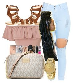 A fashion look from March 2017 by featuring Miss Selfridge, Cornetti, MICHAEL Michael Kors and Michael Kors Cute Swag Outfits, Cute Summer Outfits, Dope Outfits, Girl Outfits, Fashion Outfits, Fashion Trends, Casual Summer, Black Girl Fashion, Teen Fashion