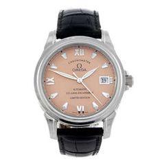 LOT:167 | OMEGA - a limited edition gentleman's platinum De Ville Co-Axial Chronometer wrist watch.