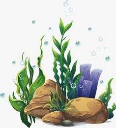 Plant Painting, Plant Drawing, Wall Drawing, Coral Drawing, Underwater Plants, Underwater Painting, Under The Sea Drawings, Animal Drawings, Art Drawings