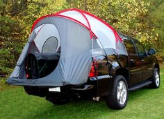 How cool is this?!  Rightline Gear 110890 CampRight Chevy Avalanche / Cadillac EXT Truck Tent