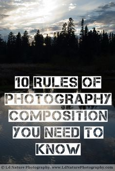 10 rules you should know if you're a photographer or if you're becoming a photographer.