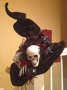 Skull witch hat