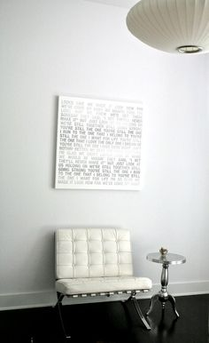 Canvas Art Lyrics Music Song Typography by Geezees