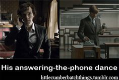 """Benedict's """"Answering the Phone"""" Dance (gif) 