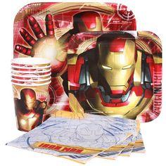Iron Man 3 Birthday Party Supplies-Napkins Plates Cups