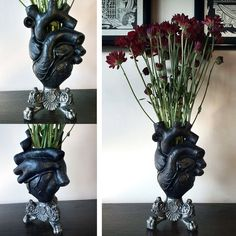 Anatomical Heart Vase (Black)