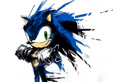 Sonic - - Not just the subject in this one, I really like the style. It just seems to fit coming apart like that as if he didn't stay still long enough for a complete image.