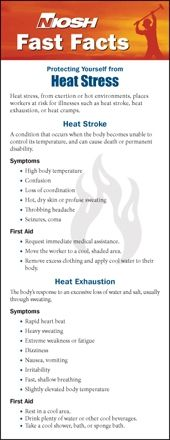 Our friends at the National Institute for Occupational Safety and Health (NIOSH), a division of +Centers for Disease Control, have resources to protect workers in this heat. Did you know about heat cramps?! Click the link to learn more.