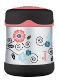 Thermos Foogo Leak Proof Stainless Steel Food Jar, Poppy Patch, 10 Ounce