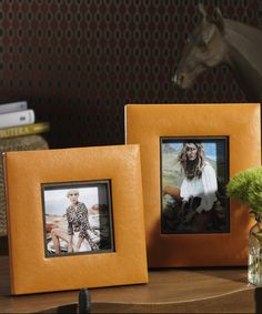 Equestrian Faux Leather Square Photo Frame - 5 x 5 - Photo Frames