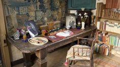 Novelist Vita Sackville-West's writing room in the Elizabethan tower of Sissinghurst Castle