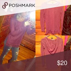 🆕Burgundy Crochet trim knit long sleeve! NWOT Brand new without tags never worn brand is REWIND size small knitted long sleeve with hood crochet trim detail burgundy mauve color! 🎉20% off bundles🎉 PacSun Tops